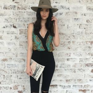 Free People Tops - Free People Border Babe Bodysuit Size SP